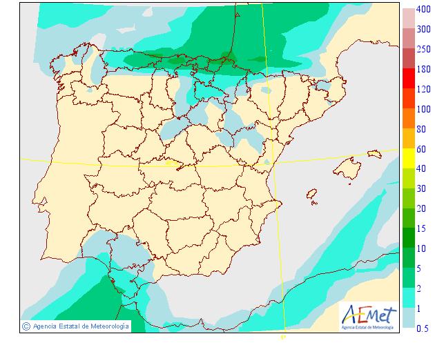 Precipitación media AEMET 08 . Meteosojuela La Rioja