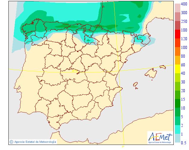 Precipitación media AEMET 10 . Meteosojuela La Rioja