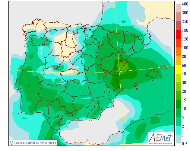 Precipitación media AEMET. 01 Meteosojuela La Rioja