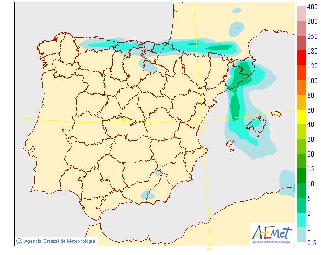 Precipitación media AEMET. 11 Meteosojuela La Rioja