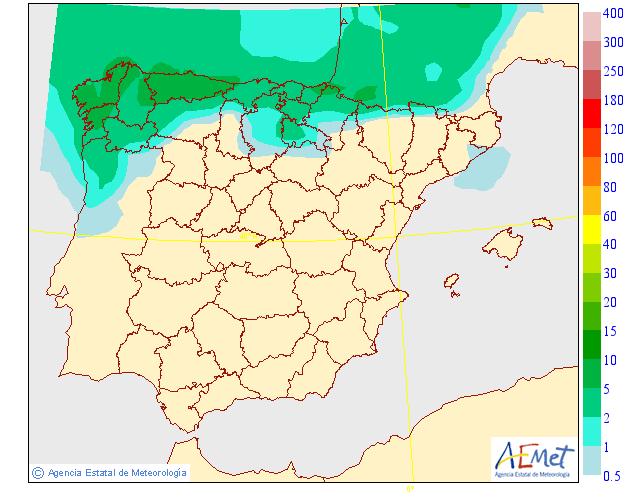 Precipitación media AEMET. 12 Meteosojuela La Rioja