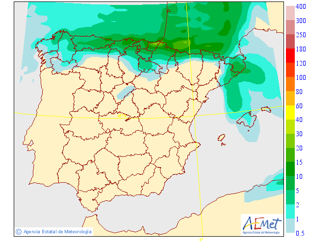 Precipitación media AEMET. 13 Meteosojuela La Rioja