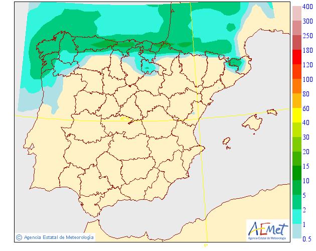 Precipitación media AEMET. 17 Meteosojuela La Rioja