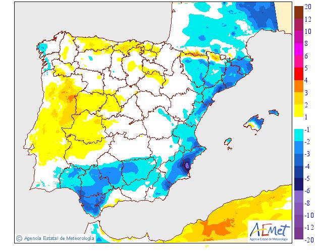 Variación de temperaturas máximas AEMET 01. Meteosojuela