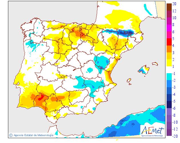 Variación de temperaturas máximas AEMET 02. Meteosojuela