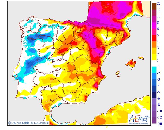 Variación de temperaturas máximas AEMET 03. Meteosojuela