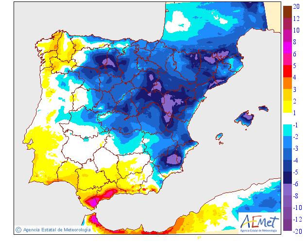 Variación de temperaturas máximas AEMET 11 . Meteosojuela