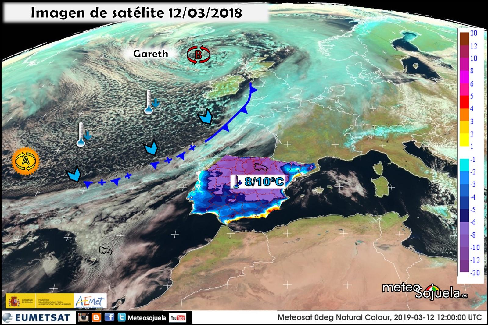 Variación de temperaturas máximas AEMET 13 . Meteosojuela