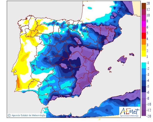 Variación de temperaturas máximas AEMET 18 . Meteosojuela