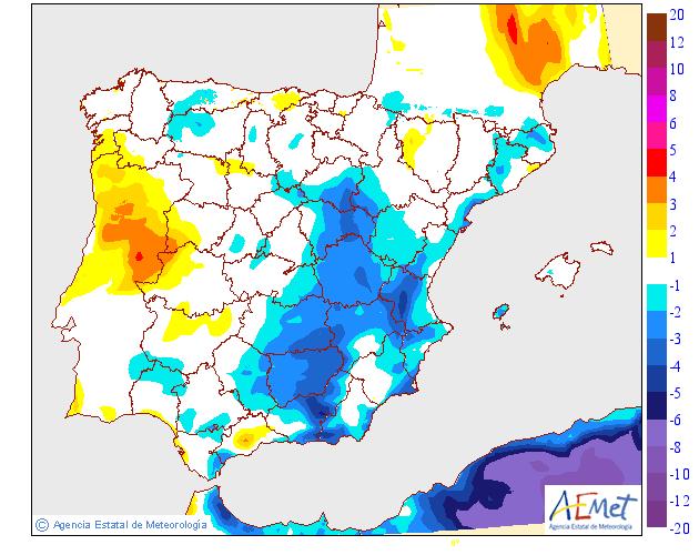 Variación de temperaturas máximas AEMET 19 . Meteosojuela