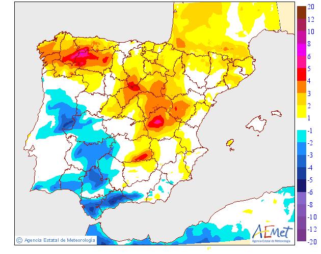 Variación de temperaturas máximas AEMET 20 . Meteosojuela