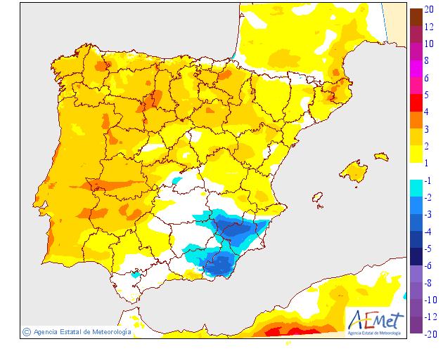 Variación de temperaturas máximas AEMET 23 . Meteosojuela