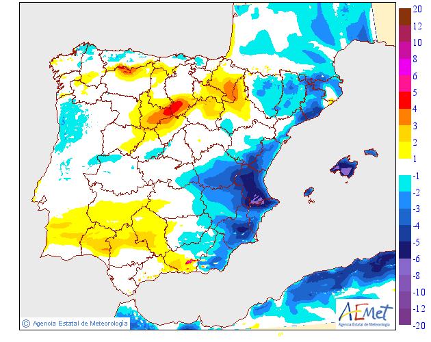 Variación de temperaturas máximas AEMET 26 . Meteosojuela