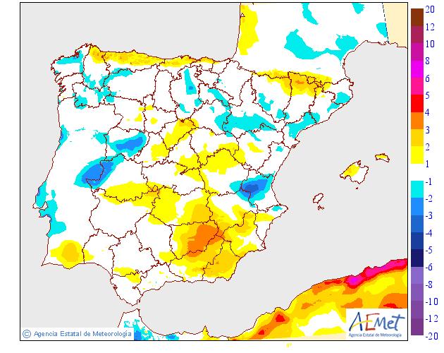 Variación de temperaturas máximas AEMET 30 . Meteosojuela