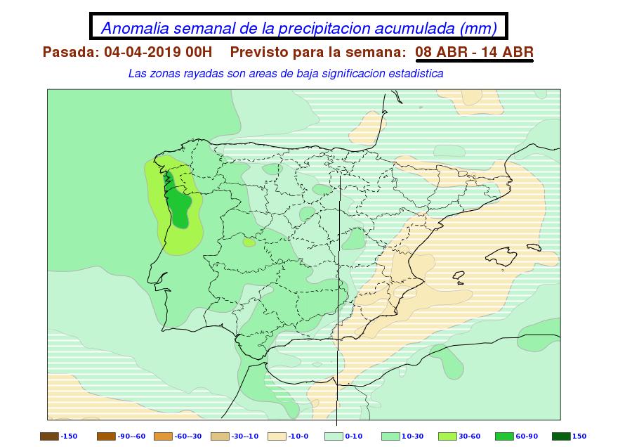 Anomalía precipitación AEMET. Meteosojuela