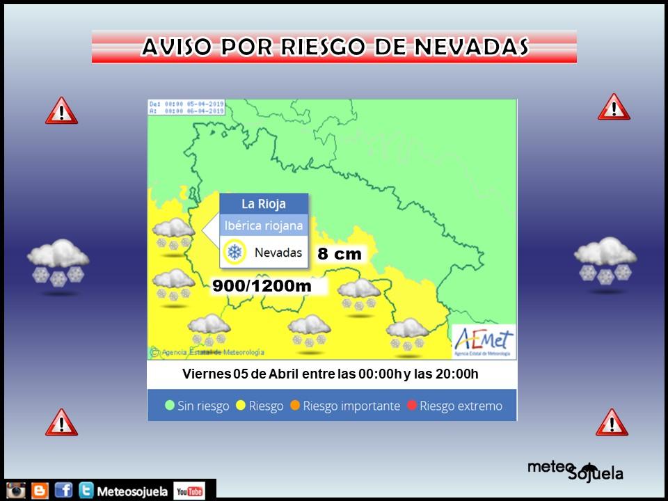 Avisos meteorológicos AEMET. Meteosojuela