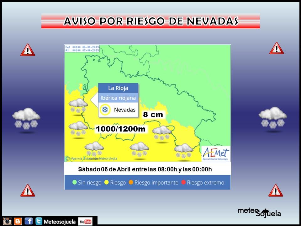Avisos meteorológicos AEMET.06 Meteosojuela