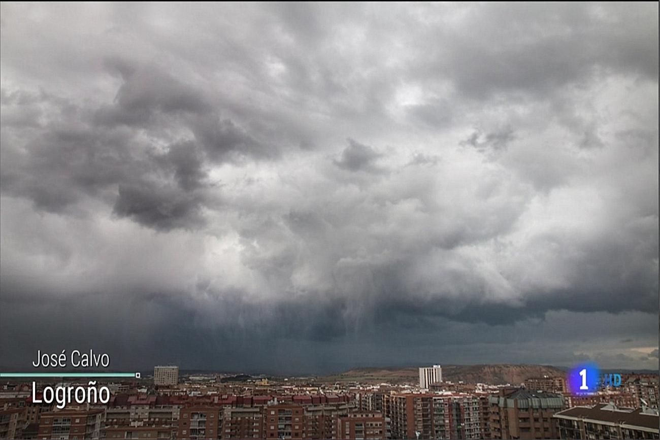 Chubascos en Logroño. El Tiempo de TVE1. 0504 Meteosojuela