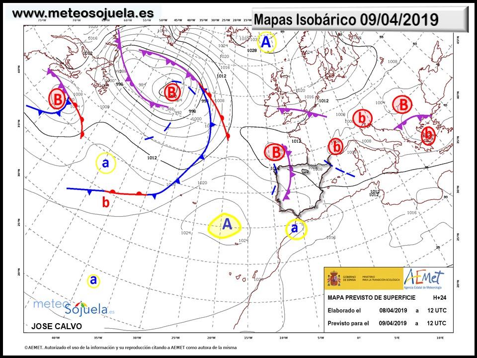 Mapa-isobárico-AEMET.-Meteosojuela-La-Rioja