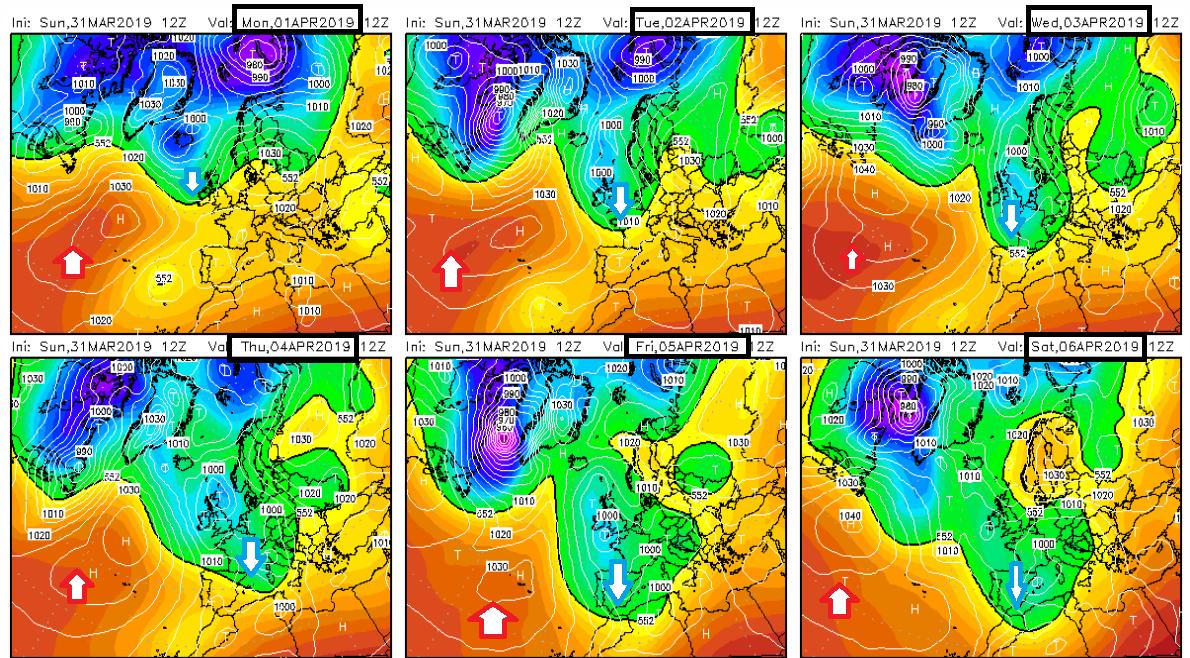 Precipitación de nieve acumulada según modelos ECMWF. Meteosojuela