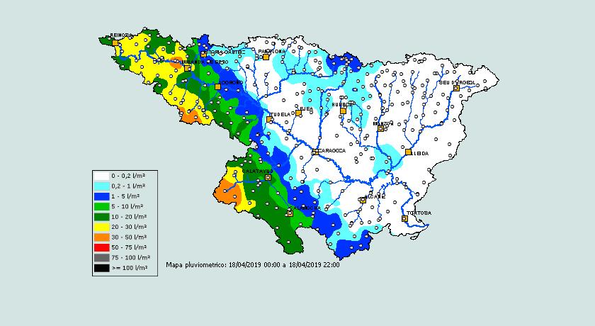 Precipitación Acumulada SAIH. 1804 Meteosojuela