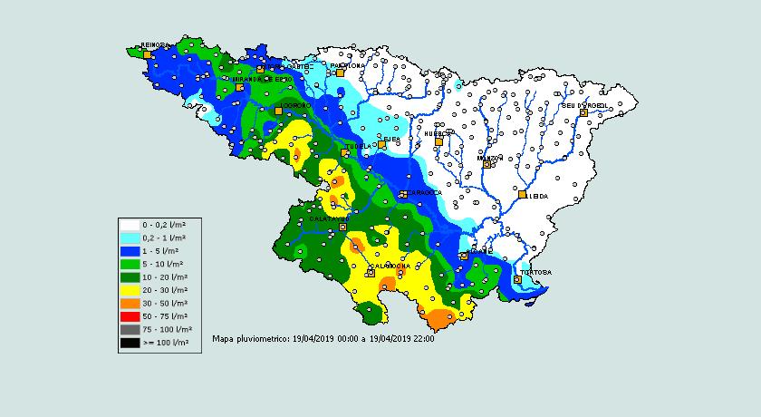 Precipitación Acumulada SAIH. 1904 Meteosojuela