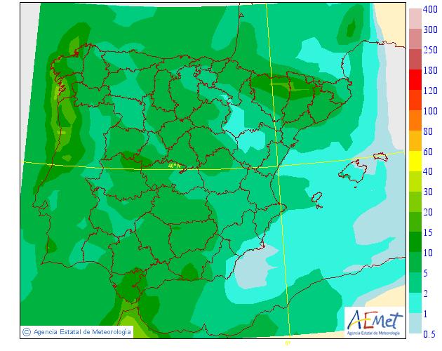 Precipitación media AEMET. 05 Meteosojuela La Rioja