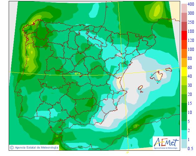Precipitación media AEMET. 06 Meteosojuela La Rioja