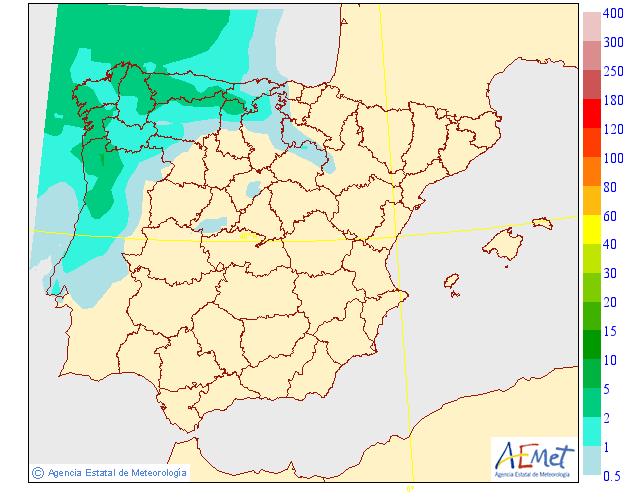 Precipitación media AEMET. 14 Meteosojuela La Rioja