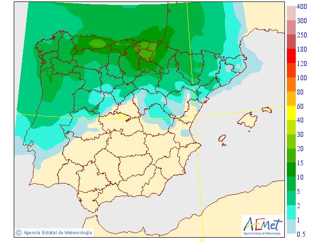 Precipitación media AEMET. 15 Meteosojuela La Rioja