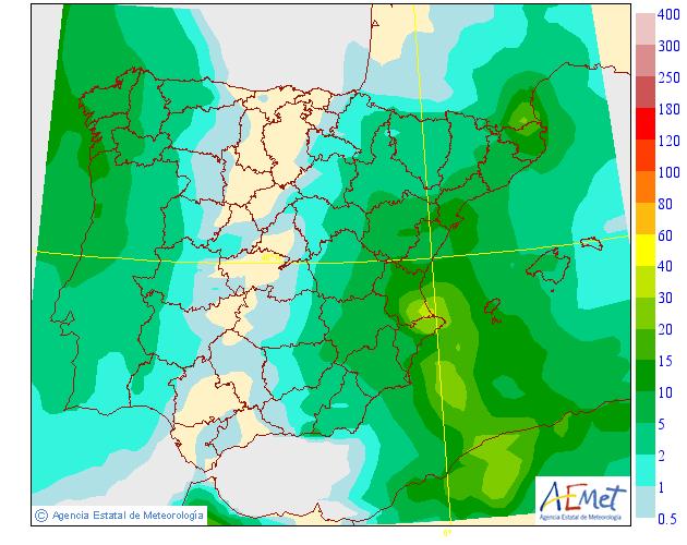 Precipitación media AEMET. 22 Meteosojuela La Rioja