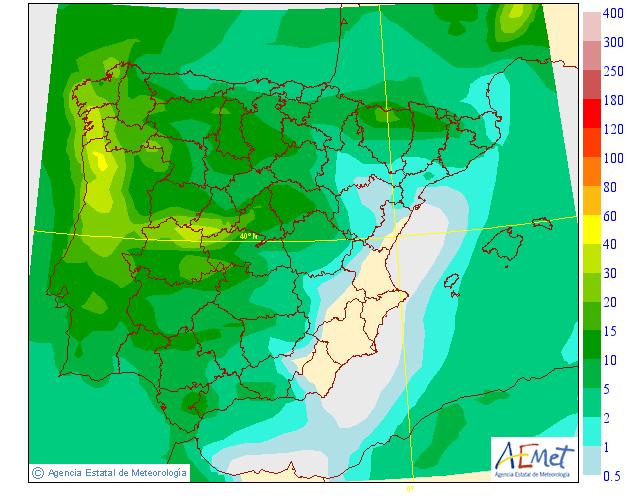 Precipitación media AEMET. 24 Meteosojuela La Rioja