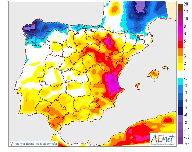 Variación de temperaturas máximas AEMET. 02 Meteosojuela