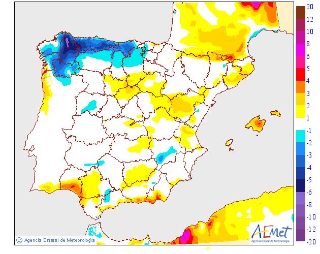 Variación de temperaturas máximas AEMET.01 Meteosojuela