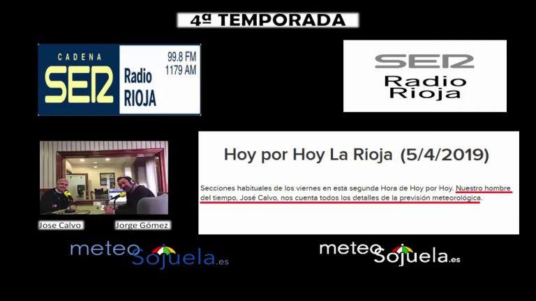 Meteosojuela en la radio. RADIO RIOJA. Hoy por Hoy en la Cadena SER. 05/04/2019