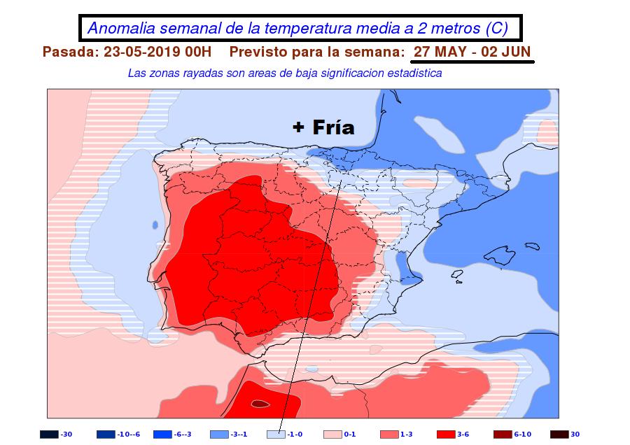 Anomalía temperatura AEMET. Meteosojuela