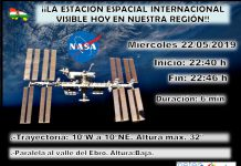Datos paso ISS La Rioja. Meteosojuela