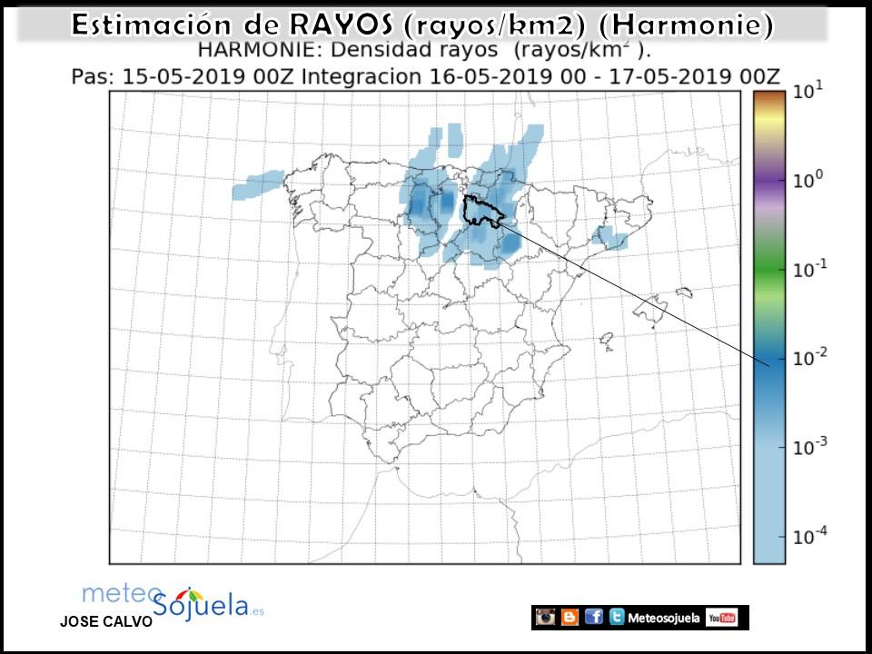 Precipitación acumulada HARMONIE. Meteosojuela