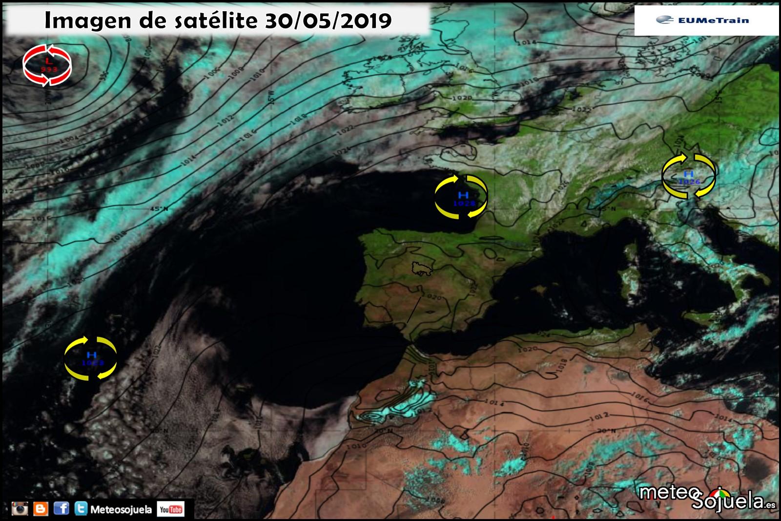 Imagen satélite Anticiclón. Meteosojuela