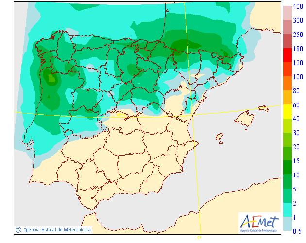 Mapas de Precipitación media AEMET. 10 Meteosojuela La Rioja