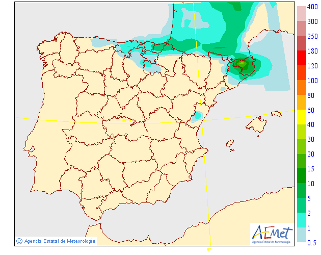 Mapas de Precipitación media AEMET. 11 Meteosojuela La Rioja