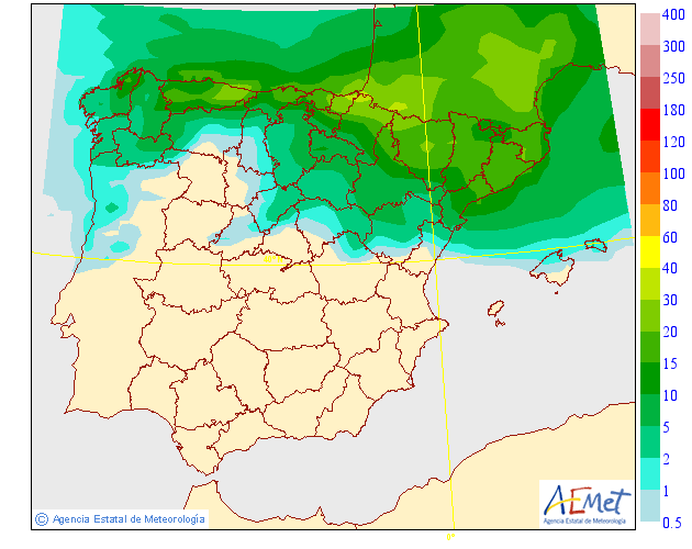 Mapas de Precipitación media AEMET. 17 Meteosojuela La Rioja