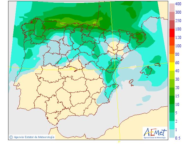 Mapas de Precipitación media AEMET. 18 Meteosojuela La Rioja