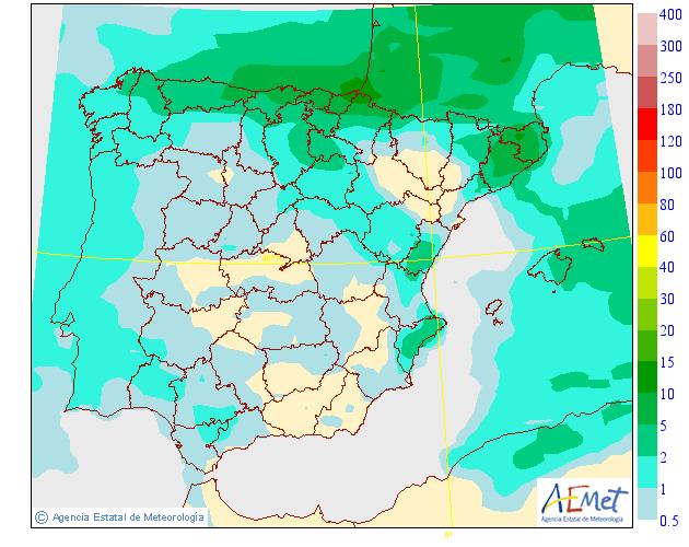 Mapas de Precipitación media AEMET. 19 Meteosojuela La Rioja