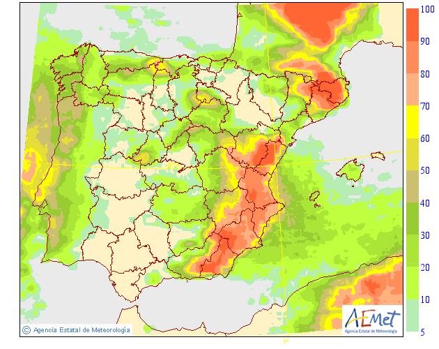 Mapas de probabilidad de Precipitación AEMET. 21 Meteosojuela La Rioja