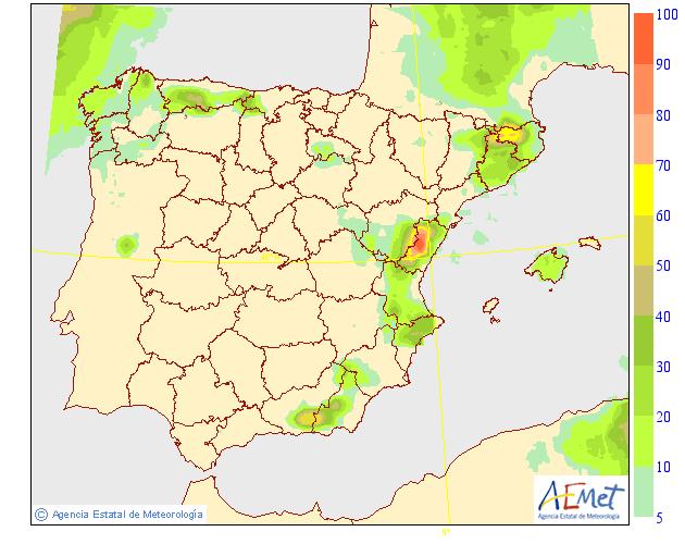 Mapas de probabilidad de Precipitación AEMET. 22 Meteosojuela La Rioja
