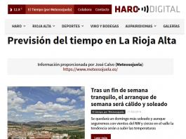 Portada Harodigital.com 11052019 Meteosojuela. La Rioja