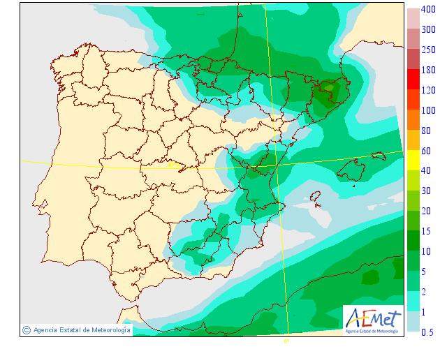 Precipitación media AEMET. 03 Meteosojuela La Rioja