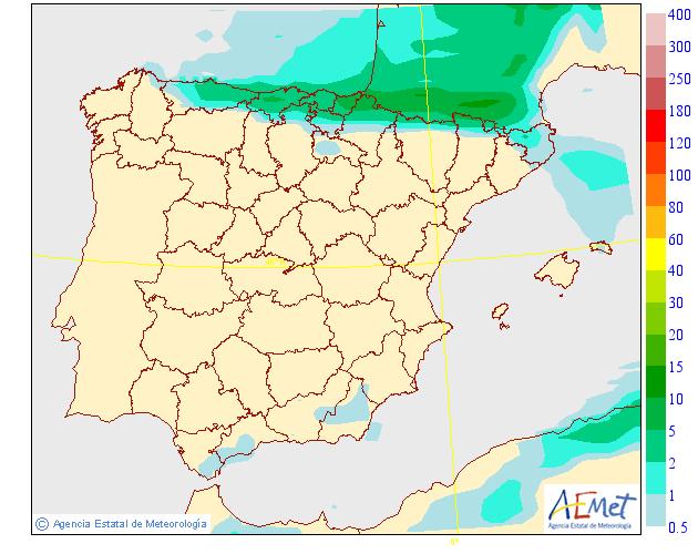 Precipitación media AEMET. 04 Meteosojuela La Rioja