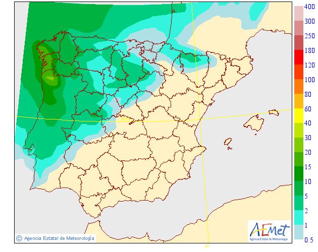 Precipitación media AEMET. 07 Meteosojuela La Rioja